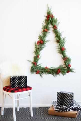 Karácsonyfa ágakból